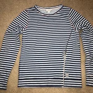 Lucky Brand Side Zip Stripe Sweatshirt szXS